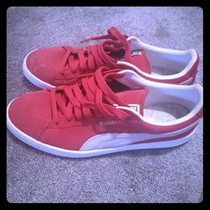 Nice Mens Red Suede Puma Size 12